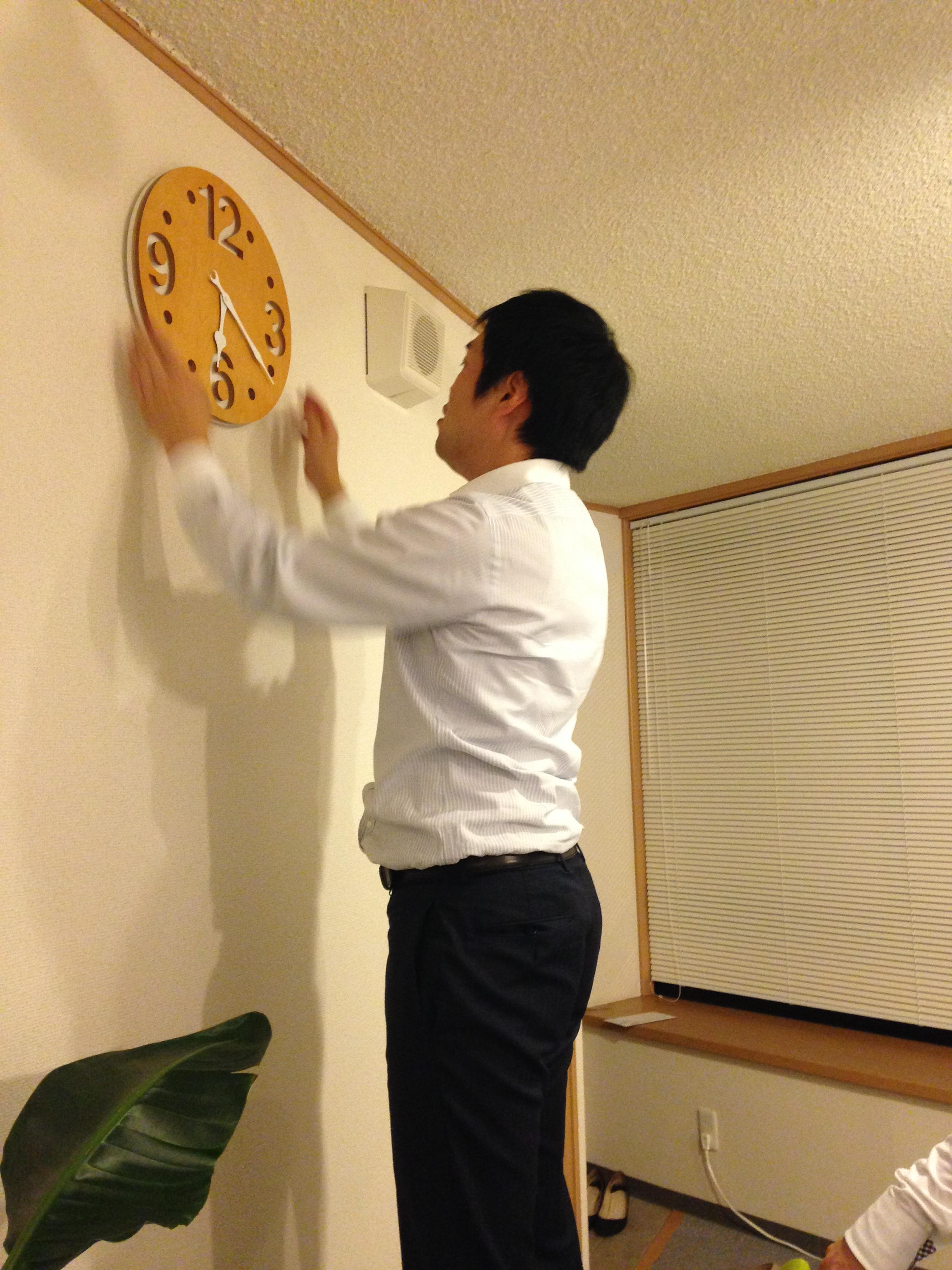 時計が設置された【今日の佐々木】
