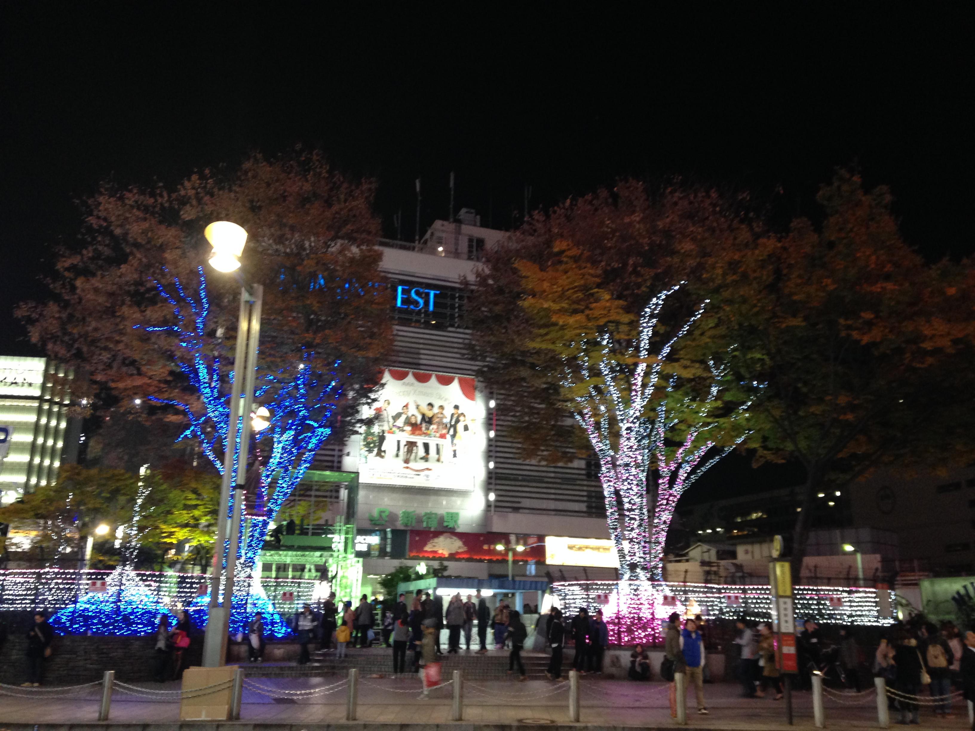 【イルミネーション】日曜・新宿・アルタ前【人間観察】